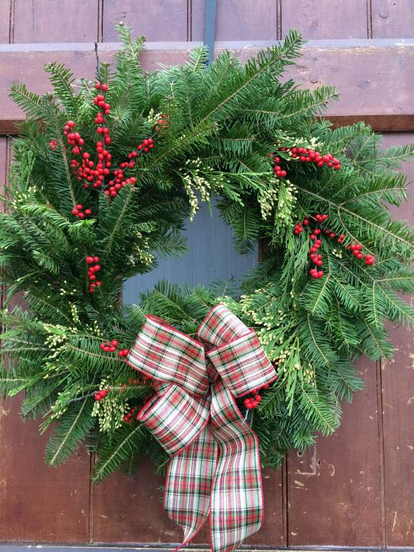 Handmade Maple Hollow Farm Wreath