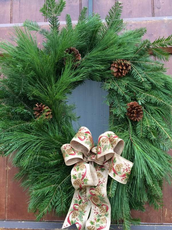 Handmade Pine and Balsam Wreath
