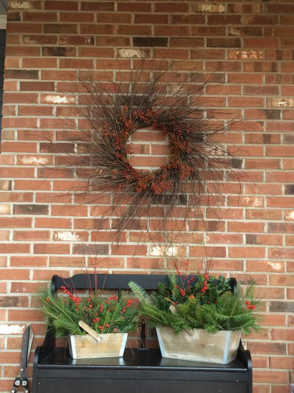wreath and arrangements